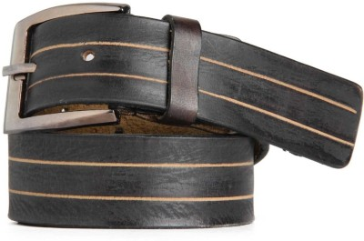Goguava Men Party, Casual Black Genuine Leather Belt