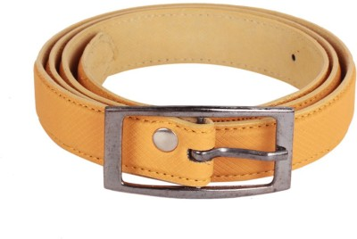 Caricature Clothing Women, Girls Casual Yellow Artificial Leather Belt