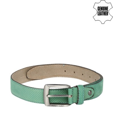Harvard Men Green Genuine Leather Belt