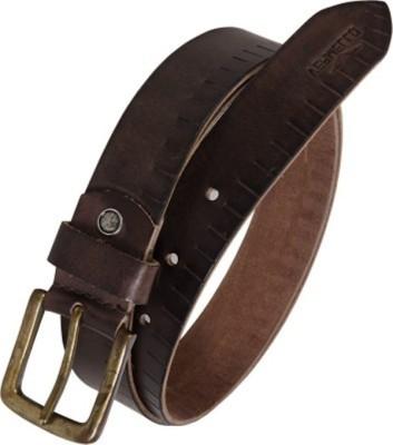 Ruchiworld Men Formal Brown Genuine Leather Belt
