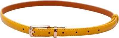 Stylehoops Girls, Women Yellow Artificial Leather Belt