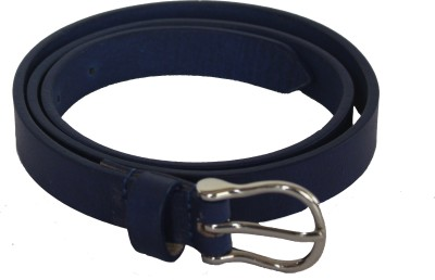 Vickiana Quest Girls, Women Blue Genuine Leather Belt