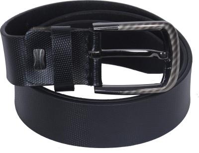 Telesto Men Casual, Formal Black Genuine Leather Belt