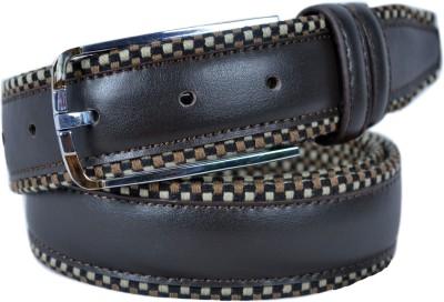 Izma Men Casual Brown Genuine Leather Belt