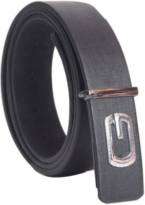 Oril Men Casual Black Artificial Leather Belt