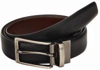 Newhide Men Formal Brown, Black Genuine Leather Reversible Belt
