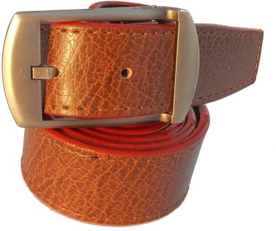 B.S.Chadha Group Men Formal Tan Artificial Leather Belt