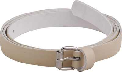 Mdr Collections Girls Casual Silver Artificial Leather Belt