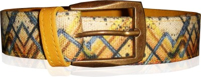 JAJV Women Casual Yellow Canvas Belt