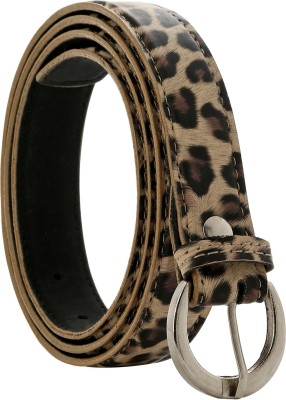 Starindia Women, Girls Casual, Formal, Party Beige, Black Texas Leatherite Belt