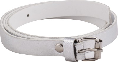 Mdr Collections Girls Casual White Artificial Leather Belt