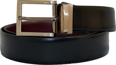 99Cells Men, Women Casual, Formal Black Genuine Leather Reversible Belt