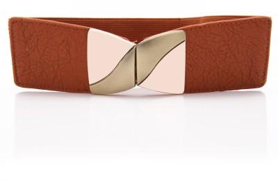 Calvino Women Casual Beige Artificial Leather Belt