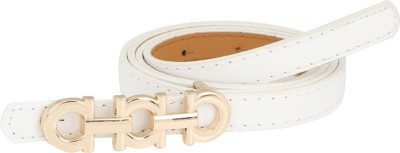 Aadi And Sons Women Casual White Artificial Leather Belt