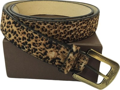 Zaira diamond Women Black, Brown Genuine Leather Belt