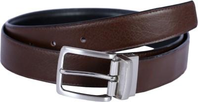 Hardys Men Brown Genuine Leather Reversible Belt