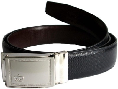 LEE O Men Formal Black Genuine Leather Reversible Belt