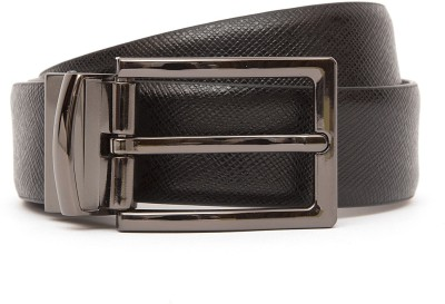 Kethini Men Formal Black, Brown Genuine Leather Belt