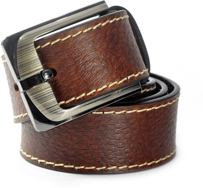 Cavallo Men Casual, Formal, Evening, Party Brown Genuine Leather Belt