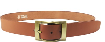 Mars And Venus Boys, Men, Girls, Women Formal, Party, Casual Brown Genuine Leather Belt