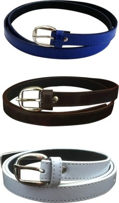 Verceys Girls, Women Casual Blue, Brown, White Artificial Leather Belt