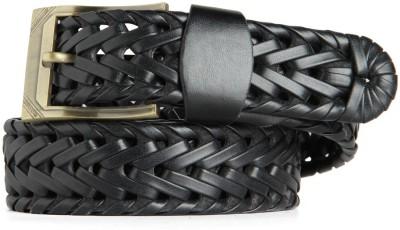 Goguava Men Casual, Party Black Genuine Leather Belt
