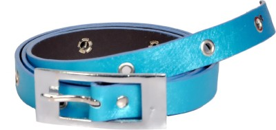 Swan Collection Girls, Women Casual, Formal Blue Artificial Leather Belt