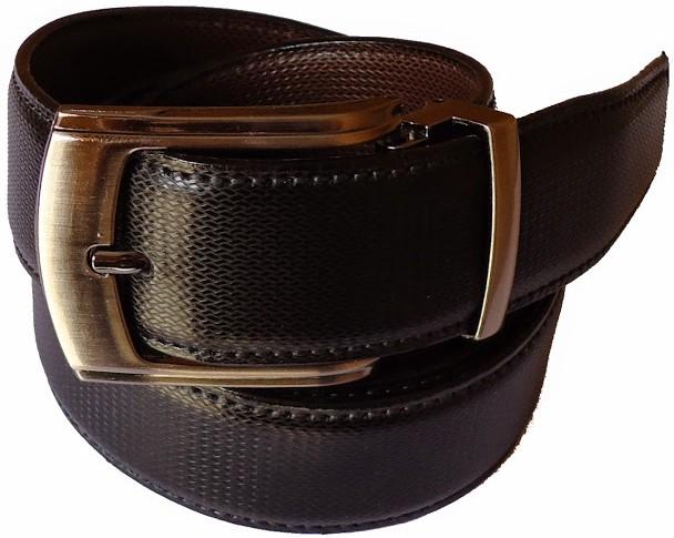 MMS Men Formal Black Canvas Reversible Belt