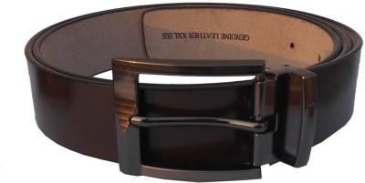DVC Men Formal Brown Genuine Leather Belt