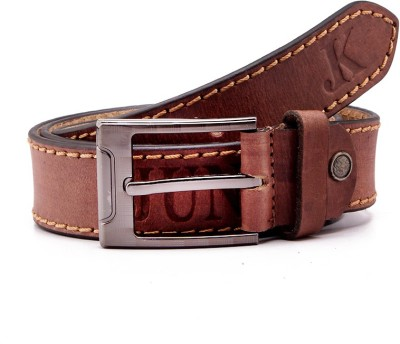 Junckers Men, Boys, Girls Casual, Party, Evening Brown Genuine Leather Belt
