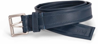 Viari Men Formal Blue Genuine Leather Belt