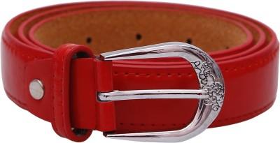 Stylehoops Boys, Men, Girls, Women Red Artificial Leather Belt