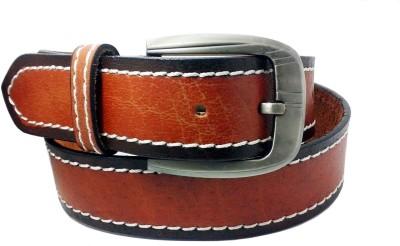 Sanshul Men Tan Genuine Leather Belt