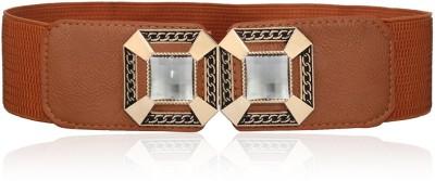 Calvino Women Casual, Formal Brown Artificial Leather Belt