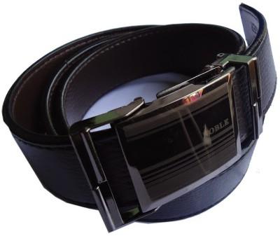 MMS Men Semi-formal Black Genuine Leather Belt