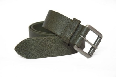 Vickiana Quest Boys, Men Formal, Casual Green Genuine Leather Belt