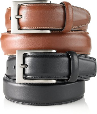 Sovam Men Casual Black, Brown Genuine Leather Belt