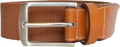 Hidea Men Casual Brown Canvas Belt