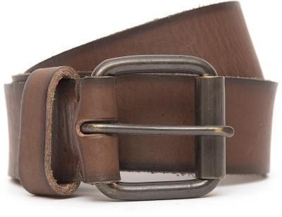 Kethini Men Formal Brown Genuine Leather Belt