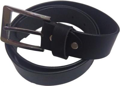 SMT Men Formal Black Genuine Leather Belt