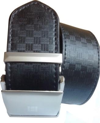 Wholesomdeal Men Formal Black Synthetic Belt
