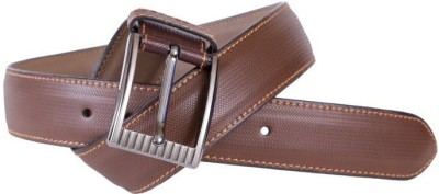 Lee Italian Men Formal, Casual, Evening, Party Brown Genuine Leather Belt