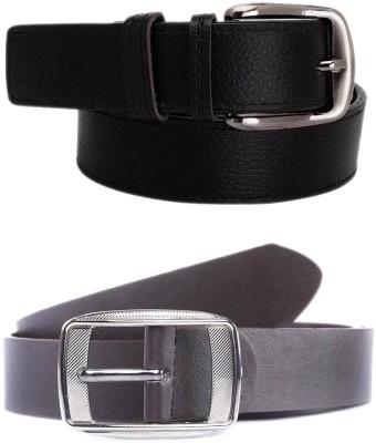 KRG ENTERPRISES Men, Boys Casual Black Genuine Leather Belt
