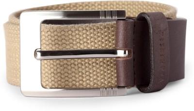 Van Heusen Men Beige Fabric Belt