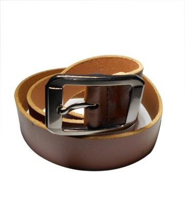 Navie Men Casual Brown Genuine Leather Belt