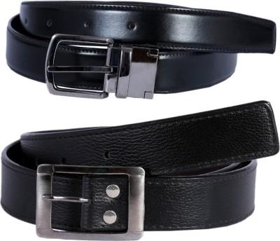 Hardys Men Black Genuine Leather Reversible Belt