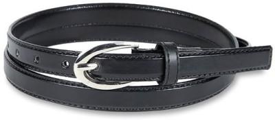 Aadaana Casual Black Artificial Leather Belt