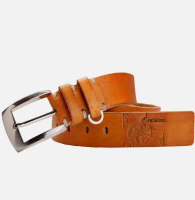99Cells Men, Women Casual Tan Genuine Leather Belt