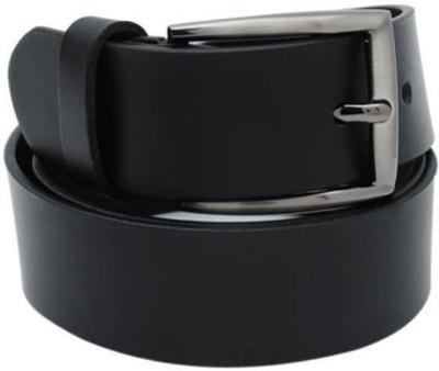 RK IMPORT Men Black Genuine Leather Belt