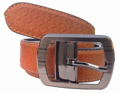Wholesomdeal Men Casual Tan Synthetic Belt